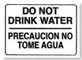 Restroom Decals | Do Not Drink Water