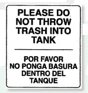 Prohibits Throwing Paper In The Toilet Vector