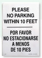 Restroom Decals | No Parking