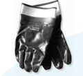 Smooth Finish Blue Nitrile Work Gloves w SAFETY CUFF Large