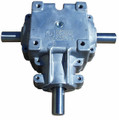 """3 Shaft Gearbox 1:1 Ratio 400 Series with 1 1/4"""" Shaft Superior Gearbox"""