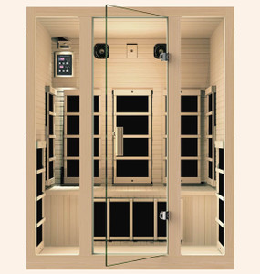 Silver 3 Person Far Infrared Sauna