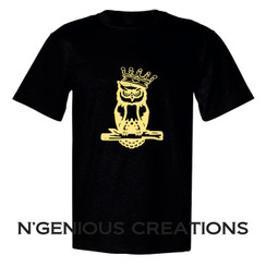 N'GENIOUS CREATIONS SIGNATURE OWL TEE- GOLD METALLIC EDITION