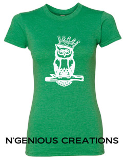 N'GENIOUS CREATIONS WOMEN'S OWL SIGNATURE TEE