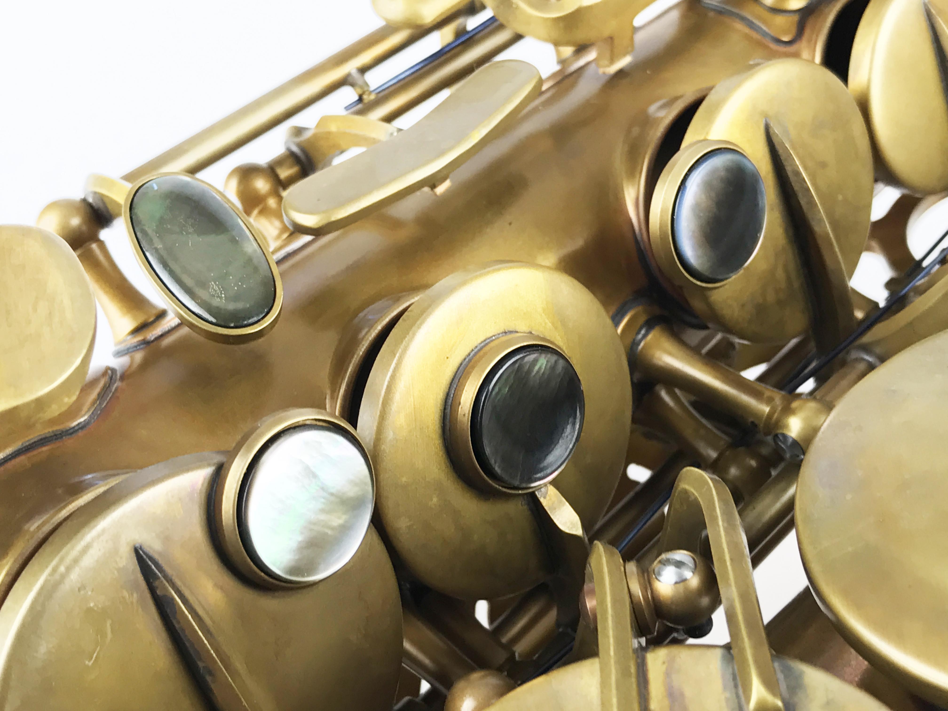 Macro shot of key set on the Eastman 52nd Street Alto Saxophone