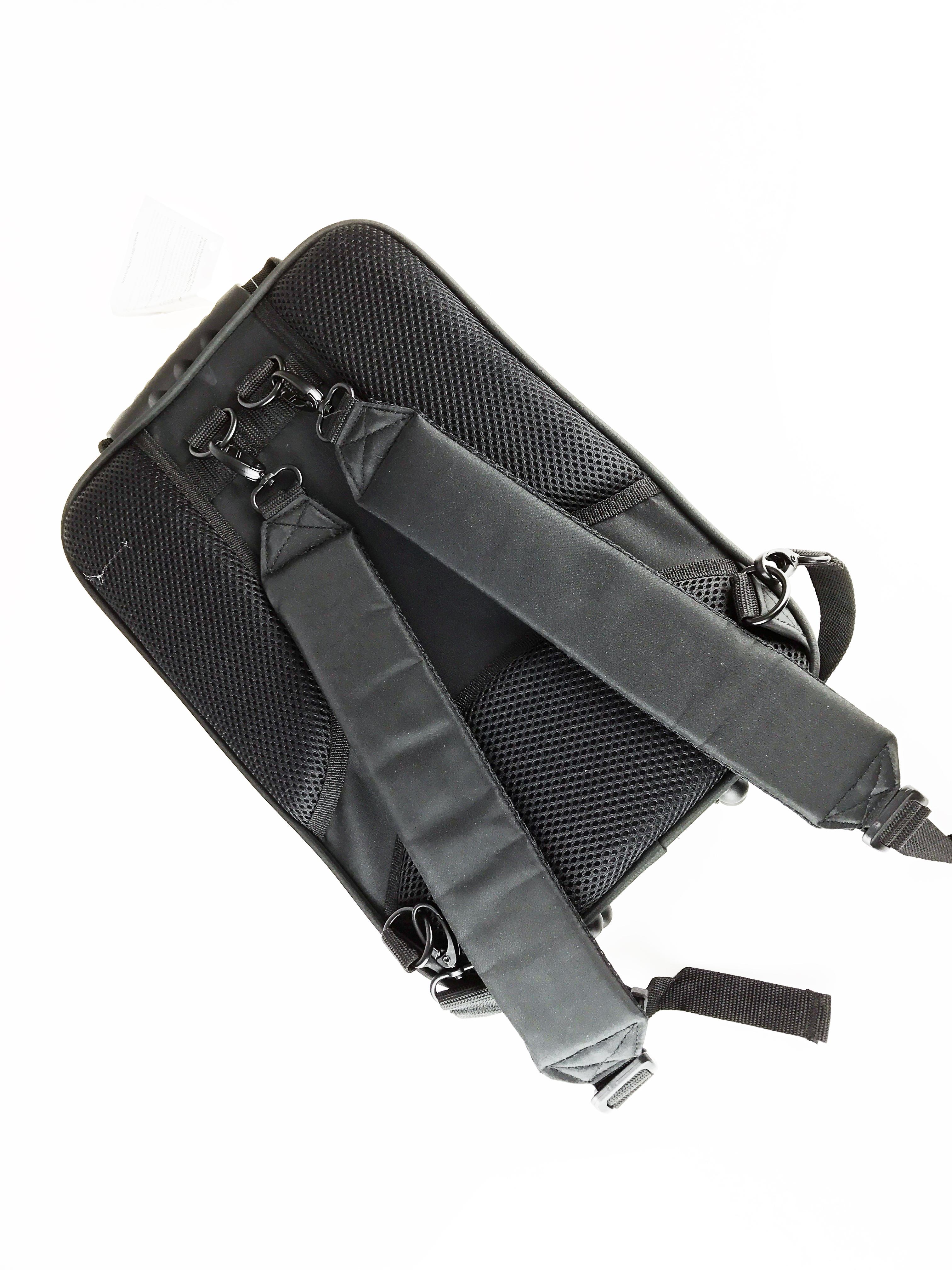 Back side of Buffet E12F Backpack Case