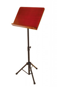 On-Stage Conductor Music Stand with Wood Bookplate