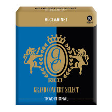 Rico Grand Concert Select Traditional Blank Bb Clarinet Reeds (10-Pack)