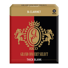 Rico Grand Concert Select Thick Blank Bb Clarinet Reeds (10-Pack)