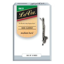 LaVoz Bass Clarinet Reeds 10-Pack