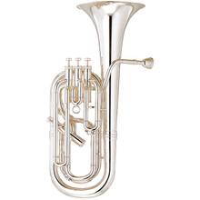 Yamaha Professional Bb/F Baritone Horn, Silver-Plated - YBH-621S