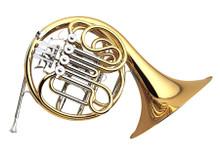 Yamaha Intermediate French Horn, Key of F/Bb, Detachable Bell - YHR-567D