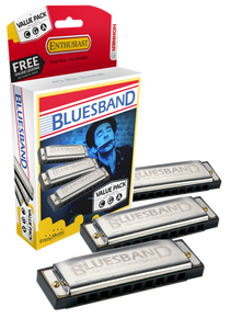 Hohner Blues Band Harmonica Value Pack (C, G, A)