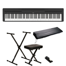 Yamaha P-45 88-Key Digital Piano Black - Deluxe Bundle