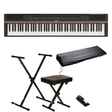 Yamaha P-125 88-Key Digital Piano Black - Deluxe Bundle