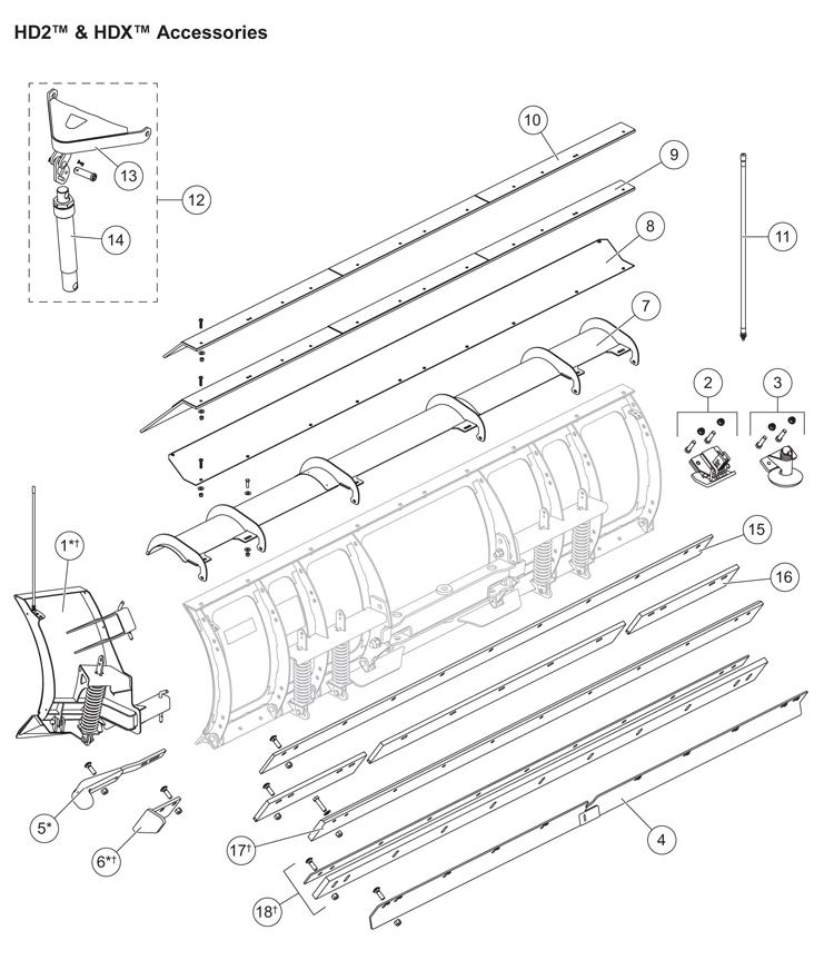 hdx plow replacement parts