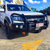 Holden RG Colorado 2012 +Rockarmor Elite Bull Bar + Stedi TYPE X LED Spotties
