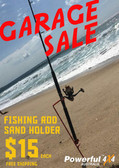 FISHING ROD SAND HOLDER