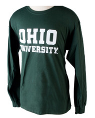 Ohio University Long-Sleeve Hunter Green T-Shirt