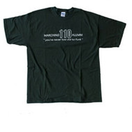 """MARCHING 110 """"NEVER TOO OLD TO FUNK"""" T-SHIRT"""