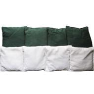 Green & White Plain Cornhole Bags - Set of 8
