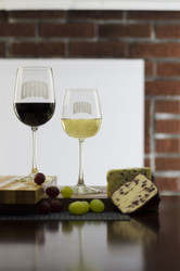 ARCHED OHIO STEMMED WINE GLASS SET
