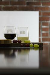 OHIO Stemless Wine Glasses - Set