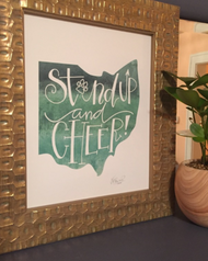 STAND UP AND CHEER PRINT