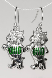 OHIO Bobcat with Enamel Earrings
