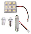 White LED Interior Light Panel with 9 Diodes