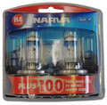 Narva Plus 100 H4 60/55 Watt Halogen Globe 12 Volt - Pair