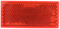 Lucidity Red Reflector Stick-On - Single