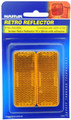 Narva Amber Reflector Stick-On - Pair