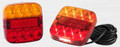 99 Series LED Combination Light Stop/Tail/Indicator with Licence Plate Lamp 12 Volt - Pair