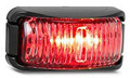 42 Series Red LED Marker Light with Clear Lens - Black Base
