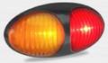 37 Series Red/Amber LED Plug-On Marker Light with Black Bezel