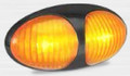 37 Series Amber LED Plug-On Marker Light with Black Bezel