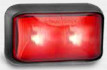 58 Series Red LED Marker Light with Black Base