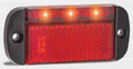 44 Series Red LED Marker Light with Red Reflector