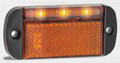 44 Series Amber LED Marker Light with Amber Reflector