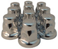 32mm Chrome Flat Top Nut Cover Flared - Pack of 10