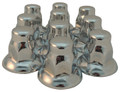 33mm Chrome Flat Top Nut Cover with Wide Flare - Pack of 10