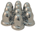"33mm or 1-5/16"" Chrome Acorn Nut Cover Flared - Pack of 10"