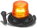 Amber LED Strobe Beacon with Magnetic Base Multivolt