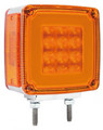 GloTrac Double Face Amber LED Indicator with Amber Lens - Double Stud