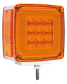 GloTrac Double Face Amber LED Indicator with Amber Lens - Single Stud