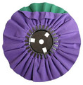 Zephyr Purple/Green Smooth Cut Airway Buffing Wheel - 8 inch