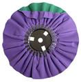 Zephyr Purple/Green Smooth Cut Airway Buffing Wheel - 8 inch