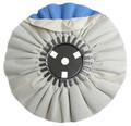 Zephyr White/Blue Finishing Airway Buffing Wheel - 8 inch