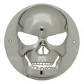 4 inch Round Chrome Skull Light Bezel